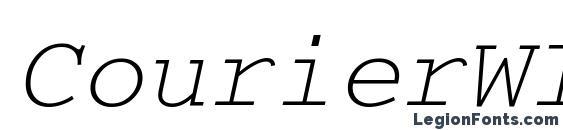 шрифт CourierWINCTT Italic, бесплатный шрифт CourierWINCTT Italic, предварительный просмотр шрифта CourierWINCTT Italic