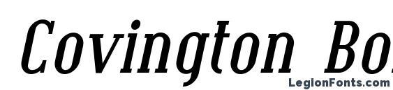 Covington Bold Italic Font