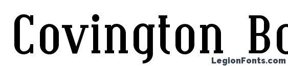 Шрифт Covington Bold
