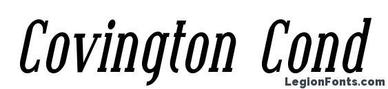 Covington Cond Bold Italic Font