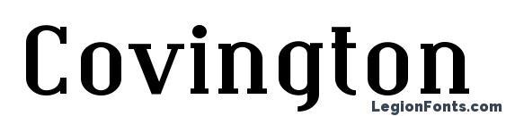 Covington Exp Bold Font