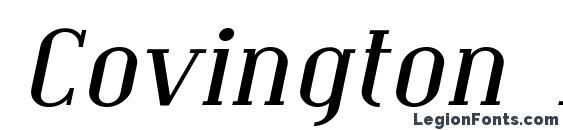 шрифт Covington Exp Italic, бесплатный шрифт Covington Exp Italic, предварительный просмотр шрифта Covington Exp Italic