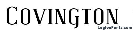 Covington SC Exp font, free Covington SC Exp font, preview Covington SC Exp font