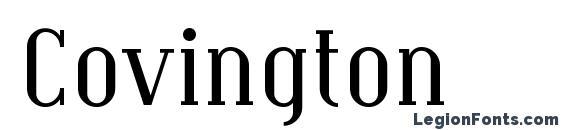 Шрифт Covington