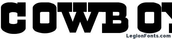Cowboys font, free Cowboys font, preview Cowboys font