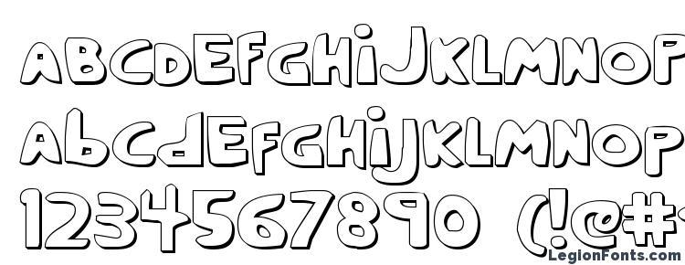 глифы шрифта Crappity Crap Crap 3D, символы шрифта Crappity Crap Crap 3D, символьная карта шрифта Crappity Crap Crap 3D, предварительный просмотр шрифта Crappity Crap Crap 3D, алфавит шрифта Crappity Crap Crap 3D, шрифт Crappity Crap Crap 3D