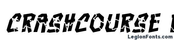 Шрифт Crashcourse BB Italic