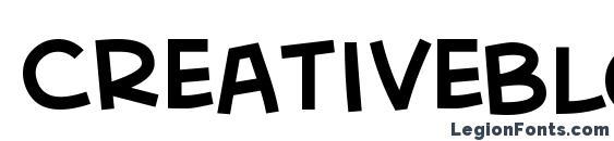 CreativeBlock BB Font, Stylish Fonts