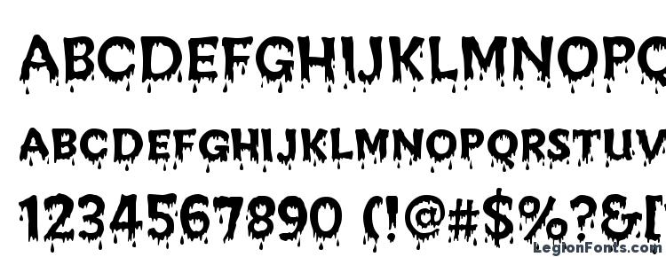 glyphs Creepy Regular font, сharacters Creepy Regular font, symbols Creepy Regular font, character map Creepy Regular font, preview Creepy Regular font, abc Creepy Regular font, Creepy Regular font