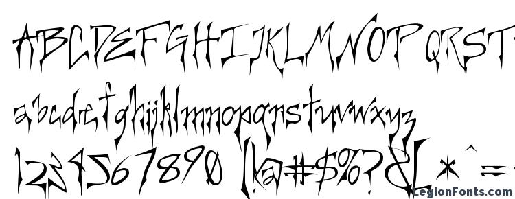 глифы шрифта Creerg, символы шрифта Creerg, символьная карта шрифта Creerg, предварительный просмотр шрифта Creerg, алфавит шрифта Creerg, шрифт Creerg