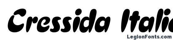 Cressida Italic Font, Wedding Fonts