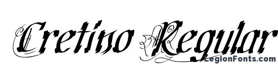 Cretino Regular Font, Tattoo Fonts