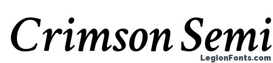 Crimson Semibold Italic Font