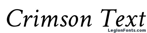 Crimson Text Italic Font