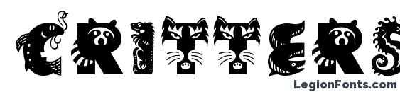 CritterStd font, free CritterStd font, preview CritterStd font