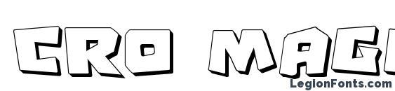 Cro Magnum Shadow Font