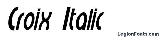 Шрифт Croix Italic
