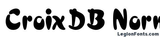 Шрифт CroixDB Normal