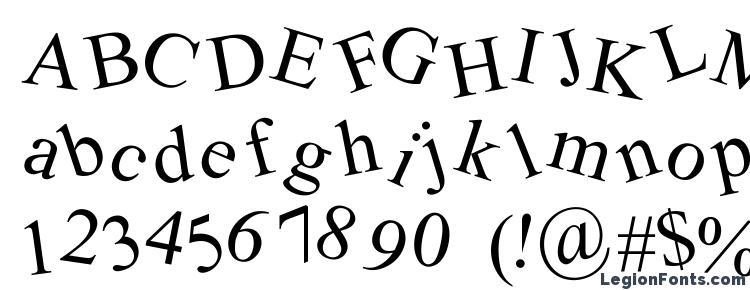 глифы шрифта Crooked, символы шрифта Crooked, символьная карта шрифта Crooked, предварительный просмотр шрифта Crooked, алфавит шрифта Crooked, шрифт Crooked