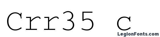 Crr35 c Font, Russian Fonts