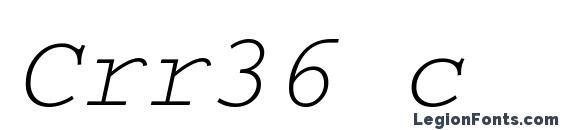 Crr36 c font, free Crr36 c font, preview Crr36 c font