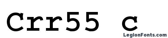 Шрифт Crr55 c