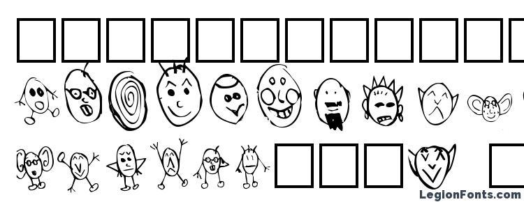 глифы шрифта Crud Heads, символы шрифта Crud Heads, символьная карта шрифта Crud Heads, предварительный просмотр шрифта Crud Heads, алфавит шрифта Crud Heads, шрифт Crud Heads
