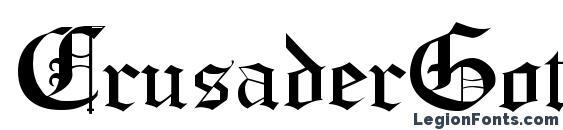 Шрифт CrusaderGothic