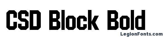 Шрифт CSD Block Bold