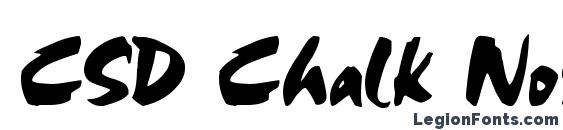 CSD Chalk Norma Font
