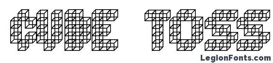 Шрифт Cube toss