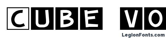 Cube vol.2 Font