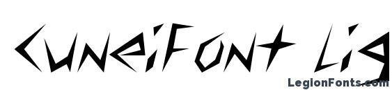 CuneiFont Light Font