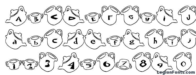 глифы шрифта cup Font, символы шрифта cup Font, символьная карта шрифта cup Font, предварительный просмотр шрифта cup Font, алфавит шрифта cup Font, шрифт cup Font