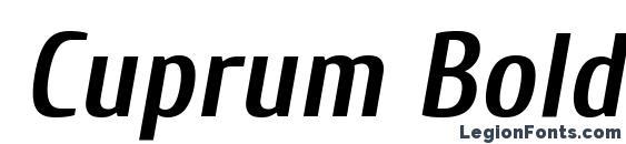 Cuprum Bold Italic Font