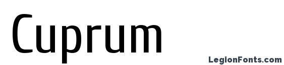 Шрифт Cuprum