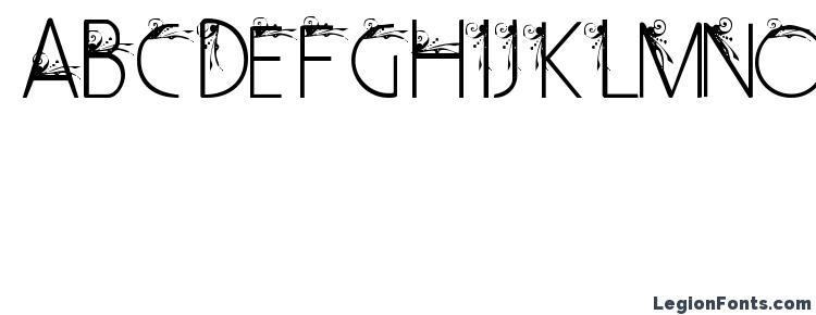 глифы шрифта Curly Fleur Caps, символы шрифта Curly Fleur Caps, символьная карта шрифта Curly Fleur Caps, предварительный просмотр шрифта Curly Fleur Caps, алфавит шрифта Curly Fleur Caps, шрифт Curly Fleur Caps