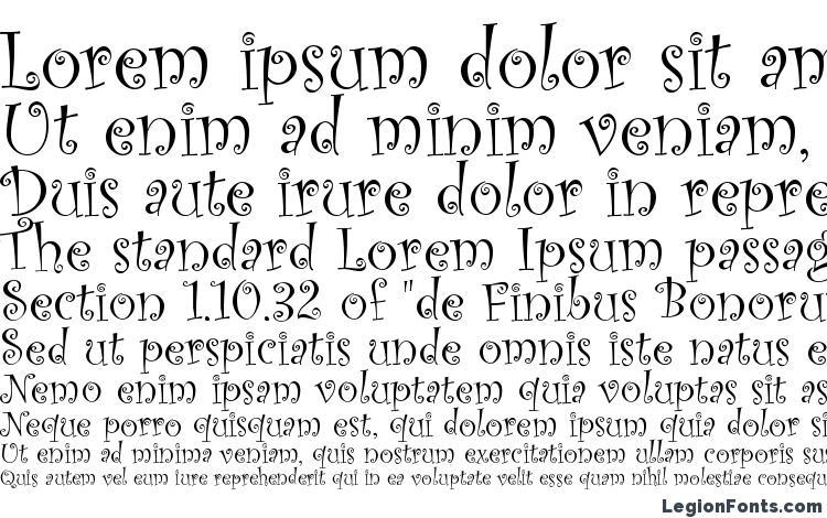 specimens Curlz MT font, sample Curlz MT font, an example of writing Curlz MT font, review Curlz MT font, preview Curlz MT font, Curlz MT font