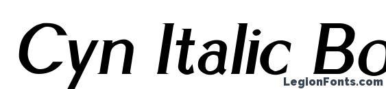 Cyn Italic Bold Font
