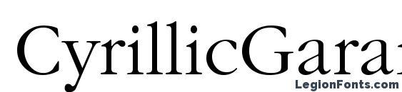 CyrillicGaramond Font