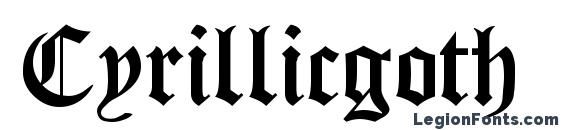 Cyrillicgoth normal Font, Medieval Fonts