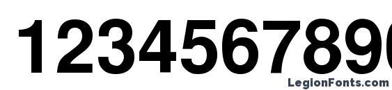 CyrillicHelvet Bold Font, Number Fonts