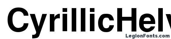 CyrillicHelvet Bold Font, PC Fonts