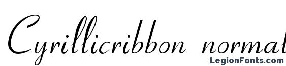 Cyrillicribbon normal Font, Tattoo Fonts