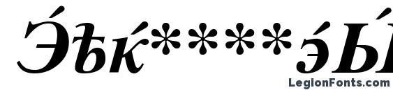 CyrillicSerif BoldItalic Font
