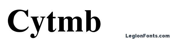 Шрифт Cytmb