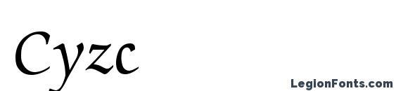 шрифт Cyzc, бесплатный шрифт Cyzc, предварительный просмотр шрифта Cyzc