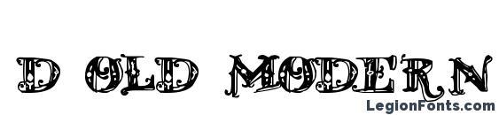 Шрифт D OLD MODERN