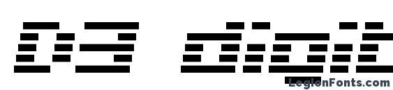 Шрифт D3 digitalism italic