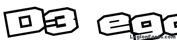 D3 egoistism outline leaning Font